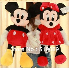 Free Shipping 31.5'' 80cm Lovely Mickey Mouse And Minnie Stuffed Animal Toys For Children's Gift ,Christmas Gifts