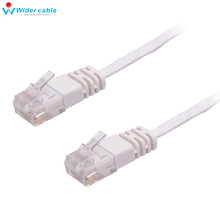 2016 New 15m/50ft White High Speed RJ45 Cat6 Cable Flat Ethernet Cable High Quality Computer LAN Cable Internet Network Cord