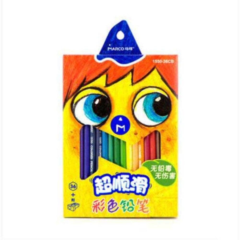 Lead children 24 color crayons + smooth 36 color Free shipping pencil marco raffine crayon de couleur watercolor pencils/S16003<br>
