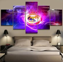 5 Panel Real Madrid La Liga Canvas Printed Painting For Living Picture Wall Art HD Print Decor Modern Artworks Football Poster