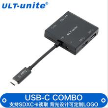Free shipping hot sellign  Usb 3.0 hub 3 USB3.0 interface COMBO card reader with backlight usb cable