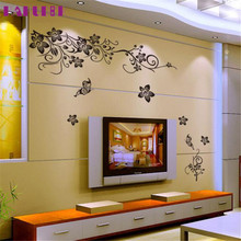 DIY poster vinilos paredes Hee Grand Removable Vinyl Wall Sticker home decor Decal Art - Flowers and Vine adesivo de parede
