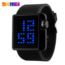 2016 SKMEI Brand Lovers Fashion Casual LED Digital Watch Men Dive 50M silicone band Sports Watches Women dress wristwatches(China)