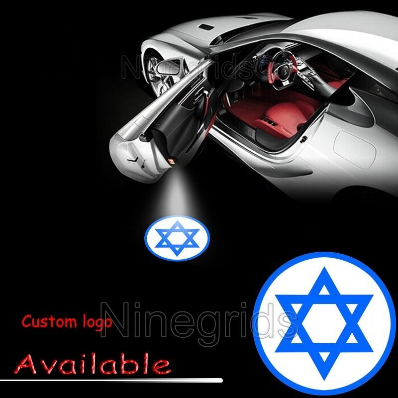 Jewish Star of David Car Door LED Welcome Laser Projector Logo Ghost Shadow Lamp #2067<br><br>Aliexpress