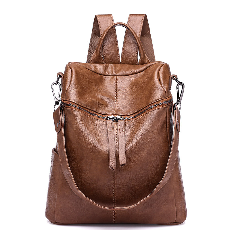 Women Backpack Soft Leather School Backpacks For Teenage Girls Casual Large Capacity Shoulder Travel Bags