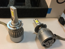 YY All In One S2 C6 Car Led Headlight H1 H3 H7 H8 H11 H4 H13 9005 9006 880 5202 9012 72W 7600LM 6000K LED Car Bulb Auto Headlamp