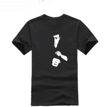 Men Fashion T Shirt Cotton Top New Summer Tee Shirt Homme Bruce Lee Printed Casual women Brand T-shirts size plus(China)