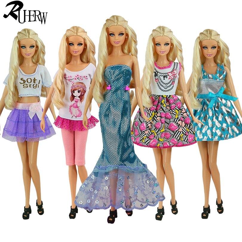 5 шт./лот новая кукла Аксессуары lifestyle костюм тонкий вечернее платье Одежда для куклы Барби фестиваль подарок для девушки(China)