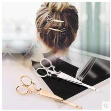 ts300 2016 silver gold scissors clip clips for Tiara Hair Barrettes headdress simple head Vintage jewelry best gift friends