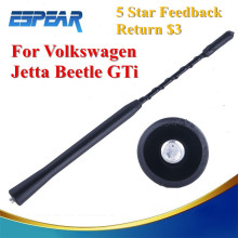 "Universal 9"" Screw-in AM/FM Roof Radio Aerial Car Antenna Whip Mast For VW Jetta Golf Passat Beetle GTI #9138"