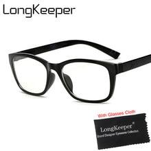 faf91bd2006 LongKeeper New Women Prescription Eyewear Trend Men Clear Glasses Brand  Women Spectacle Frame Vintage Optics Eyeglasses Frame