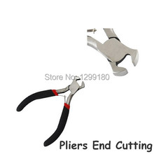 4pcs/lot Black Metal Mini Jewelery Pliers End Cutting Pliers Beading Making Repair Tool Kit For DIY Jewelry Tools K02157