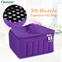 Finether 30-Bottle Essential Oil Carrying Holder Case Perfume Oil Portable Travel Storage Box Nail Polish Organizer Storage Bag