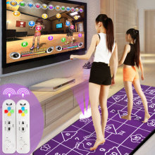 NEW 2016 HOT KL yoga mat English menu 13 mm thickness double dance pad Non-Slip Pad sense game for PC & TV+ 2 remote controller