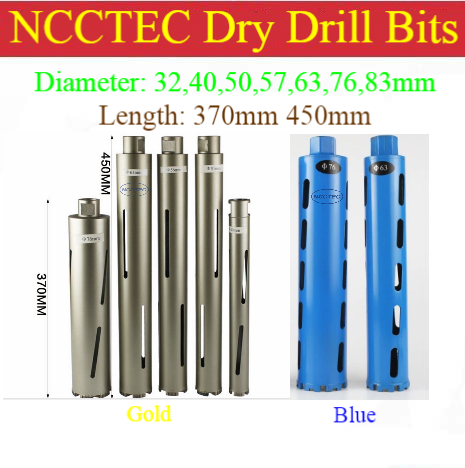 32-200mm crown diamond DRY drilling bits corers/Professional concrete brick wall DRY hole saw, drill without water<br>