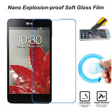 Hight Quality Nano Explosion-proof Soft Glass Protective Film Screen Protector for LG LN272 Rumor Reflex Film(China)