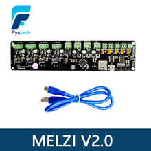 3D printer control board DIY kit part tronxy Melzi 2.0 1284P 3D PRINTER PCB BOARD IC ATMEGA1284P accessories free shipping