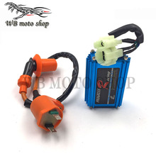 Free Shipping Performance 6 pin AC Racing CDI Box Ignition Coil For GY6 50cc 125cc 150cc 139QMB 152QMI 157QMJ Scooter Moped ATV