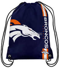 Denver Broncos Drawstring Bags Men Sports Backpack Digital Printing Pouch Customize Bags 35*45cm Sports National Fottball Team(China)