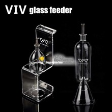 Glass feeder hang on tropical fish food aquarium VIV brand ADA quality(China)