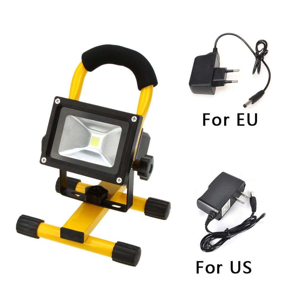 Emergency light led outdoor light Waterproof IP65 3models 10W LED Flood light Portable SpotLights Rechargeable Outdoor LED Work<br>