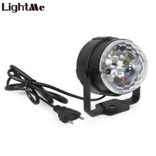 Lightme LED Stage Light 3W Mini RGB Projector Crystal Magic Ball Stage Lighting Effect Lamp DJ Club Party Disco Light Show Bulb