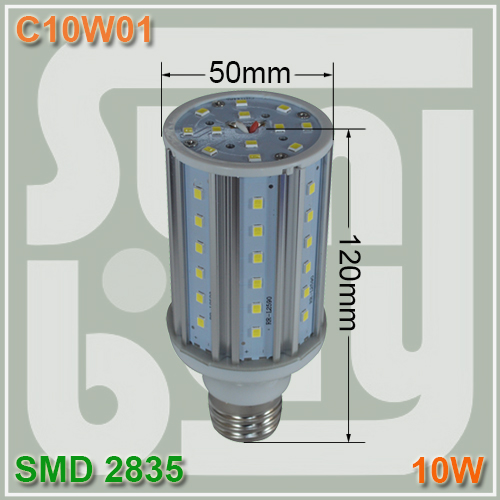 Free shipping LED bulb corn lamp 10W aluminum heat sink high quality SMD2835 E27 360 degree 10W corn light<br>