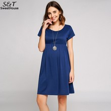 FANALA Summer Casual Dress Women Fashion Dresses Solid Short Sleeve Plus Size Party Dress Scoop Collar Smock Dress Vestido