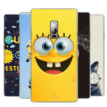 New Fashion Printing Case For Oneplus 2 One Plus Two One Plus 2 Cute Cartoon Spongebob Superman Flowers Back Cover Skin Bag