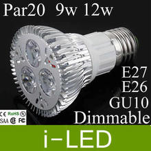 High power CREE PAR20 Led Lamp 9W 12w Gu10 E27 AC90-260V Led Spotlight led bulb Par20 LED lights downlight lighting(China)