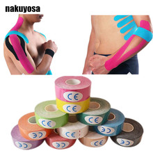 10pcs/lot 2.5cmx5m tape Therapy Muscle Tape,Muscle Bandage, kinesiology tape latex ,Physio Strain Injury Support, mix color