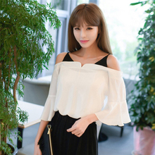 Buy 2017 Summer New Women Suits Casual Clothes Chiffon Tops+Loose Pants Female Lady Clothing Boat Neck Collar Female Suit sets for $24.13 in AliExpress store
