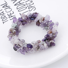 Fashion Jewelry Natural Gravel Stone Bracelet Women Fashion Crystal Bracelet Bangle Chakra Stone Charm Yoga Pulseras