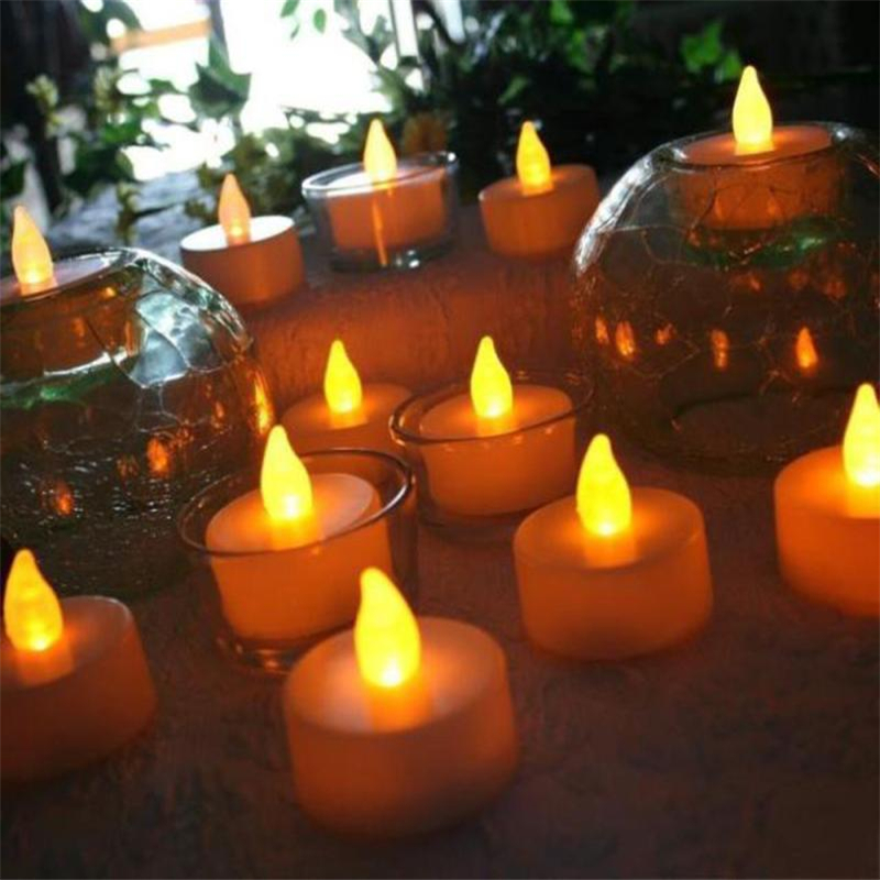 6pc LED Tea Light Candles Realistic Battery-Powered Flameless Candles06
