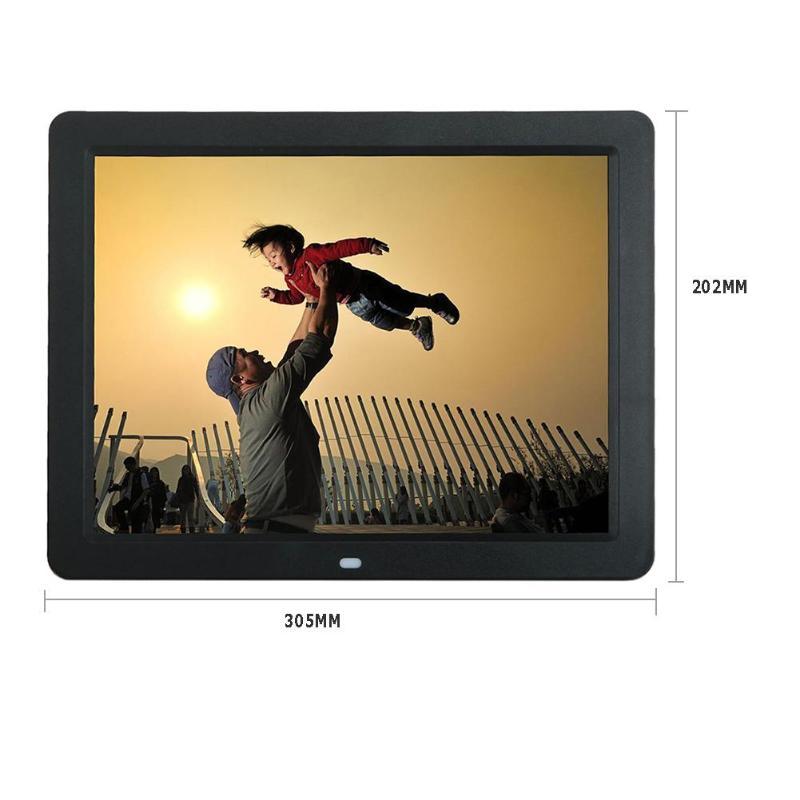 ALLOYSEED 12 Inch Digital Photo Frame 1280X00 HD LED Video Display Electronic Album Picture USB MP3 Music Player Clock Calendar 29