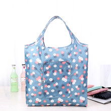 Fashion Eco friendly Shopping bag with zipper Women's Handbags Waterproof Printing Reusable shopping bag foldable Tote Bags(China)