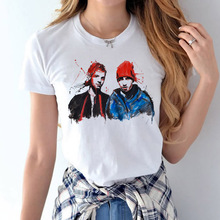 Twenty one pilots female t-shirt music band rock n roll 2017 Summer Style Tops Tee Casaul T-shirt Women Clothes Female Shirt(China)