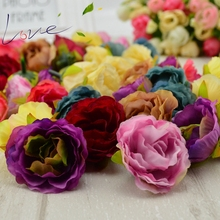 10 pcs Blooming Peony Artificial Flower Fabric for Wedding Banquet Shoes Hats Silk Flowers Accessories Home Decoration of The Ma(China)