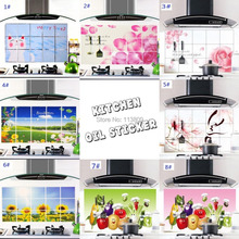 cheap 75cm*45cm Various Korea High temperature resistant Kitchen Wall Stickers Waterproof Oil Sticker Home Decor