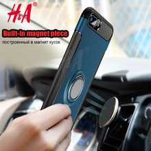 Car phone Holder case For iphone 7 7plus phone cover case for iphone 6s case with Metal Finger Ring Bracket for iphone 6 6s Plus
