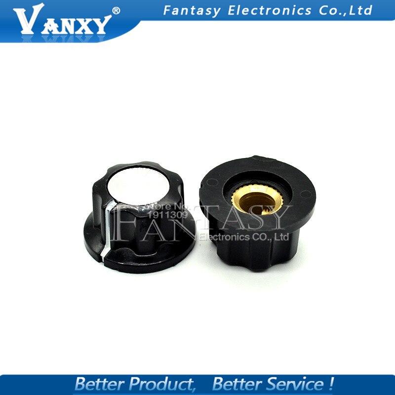 10PCS New MF-A01 Knobs Bakelite Knob  Potentiometer Knob Copper Black