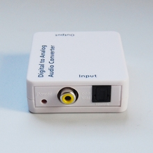 1Pc XBOX360 TV Optical Digital SPDIF/Coaxial Toslink to RCA L/R Analog Audio Converter Adapter