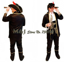 Free shipping!!Bargain!Mighty domineering male pirates clothes suit for cosplay costume Halloween adult clothing stage