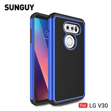 For LG V30 Case, SUNGUY Anti-knock Drop Protection Soft Silicone+Hard PC Hybrid Armor Defender Protective Case Cover for V30(China)