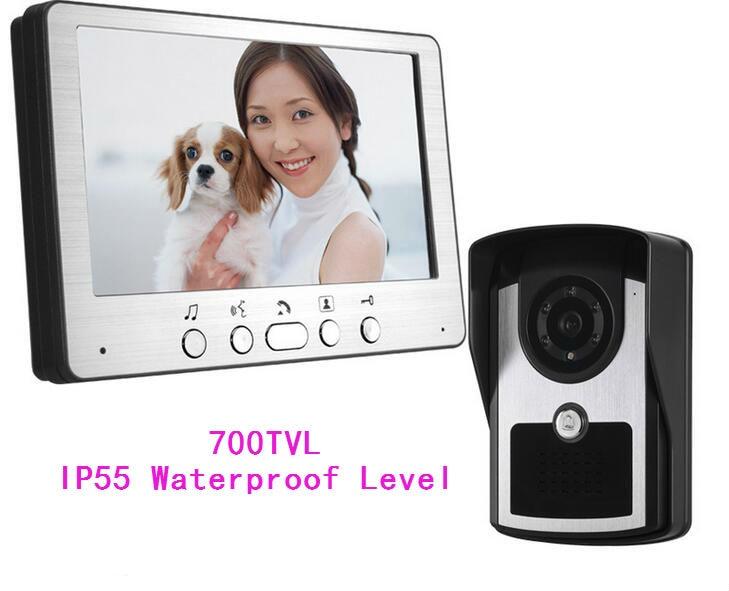 Freeship 700TVL 7 Inch Video Door Phone TFT LCD Video Monitoring Intercom Doorbell Night Vision Waterproof Outdoor Camera<br><br>Aliexpress