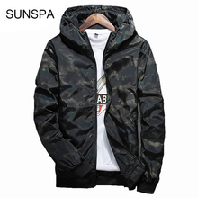 SUNSPA 2017 Spring Autumn Mens Casual Camouflage Hoodie Jacket Men Waterproof Clothes Men's Windbreaker Coat Male Outwear 4XL(China)