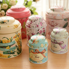 5 pcs/lot Large Capacity Storage Box for Candy Tea Sugger Coffee,Beautiful Flower Pattern Cute Metal Tin Boxes for Small Things
