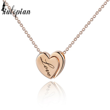 Iutopian Valentine's Day Gift New Arrival Heart Pendant Necklace Love Necklace Gift High Quality Gift For Her #RG76594(China)