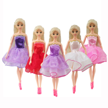 1 PCS Barbie Dolls Princess Short Dress Party Outfit Beautiful Handmade Doll Clothes For Barbie Doll Best Girls Gift Kid Toys