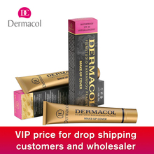 do dropshipping Original Dermacol base primer corrector concealer cream makeup base tatoo consealer face foundation 30g